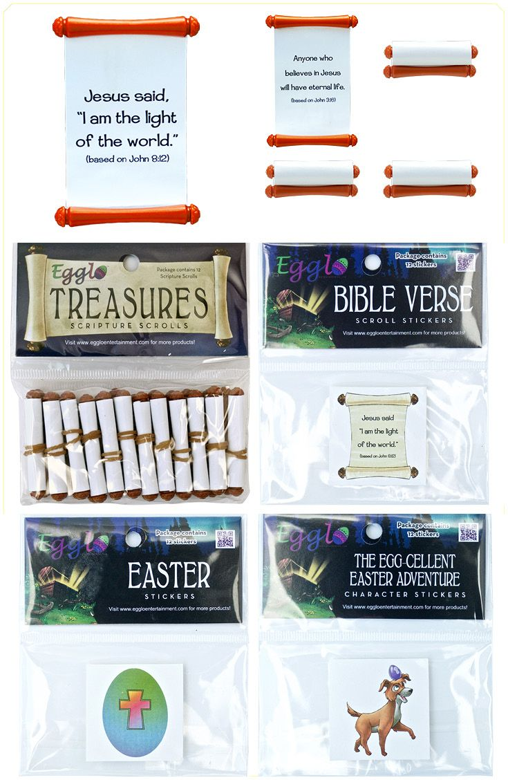 Add a Christian message to your egg hunts or other children's activities with Egglo Easter Egg Stuffers. Created for the glow-in-the-dark Egglo Easter egg hunts to teach your children about Jesus- the light of the world. Great for Sunday school. Fun reminders of God's word your kids will love. egglo.com