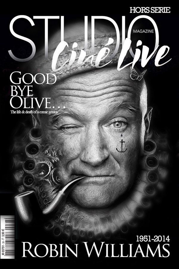 FANTASMAGORIK® ROBIN WILLIAMS by obery nicolas, via Behance