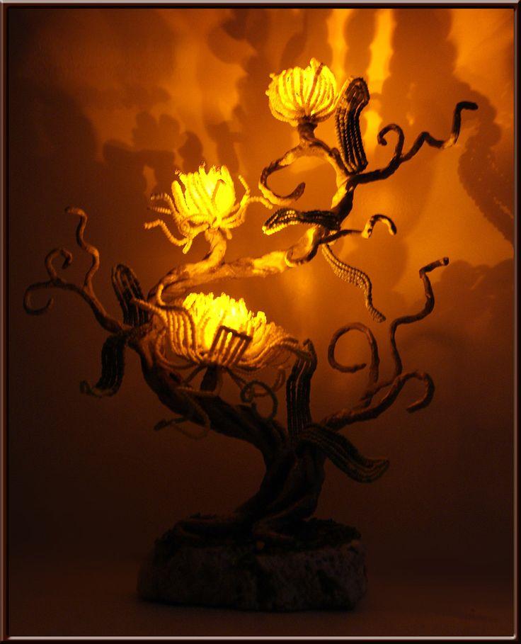 """Деревья из бисера. Светильник """"Аромат свежести"""""""