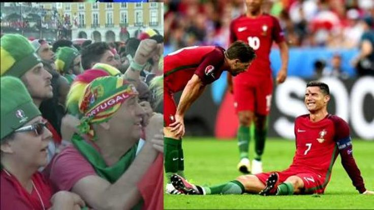 Cristiano Ronaldo musste im EM-Finale zwischen Portugal und Frankreich nach 25 Minuten ausgewechselt werden. Der Superstar verletzte sich bei einer Attacke. Der Schiedsrichter gab nicht mal Foul.