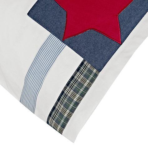 Buy littlle home at John Lewis Stars 'n' Stripes Single Duvet Cover Set, Blue Multi Online at johnlewis.com