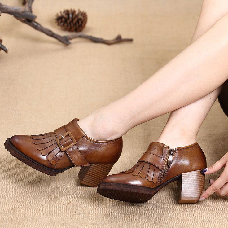 Platform Pumps Shoes Women Spring Fall Women Pumps Shoes Leather Women High Heels Design Vintage Sexy Red office Pumps