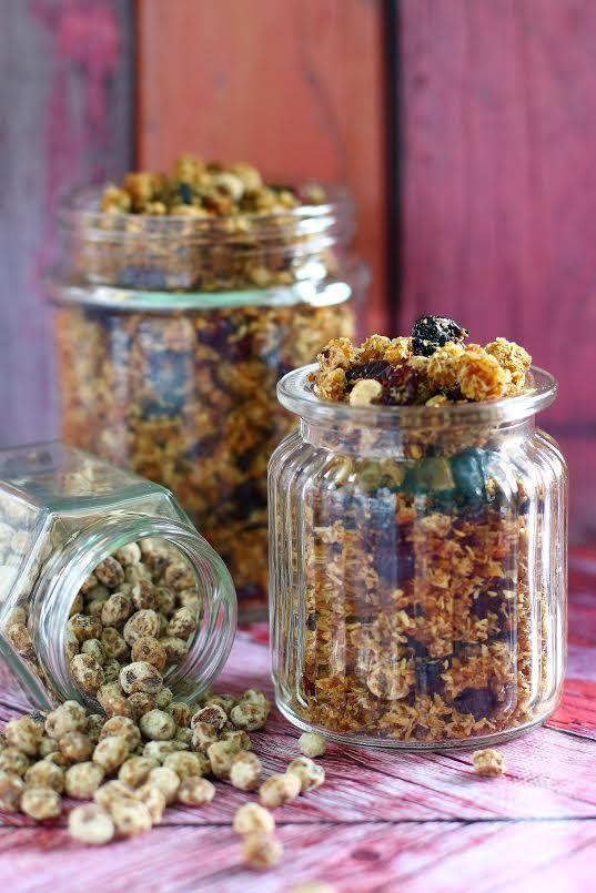 Édesburgonyás földimandula granola (paleo)