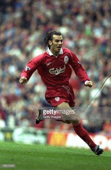 Patrik Berger of Liverpool in action during a match Mandatory Credit Allsport UK /Allsport
