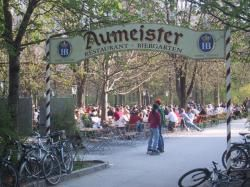 Take a walk or bike ride to the Aumeister Beer Garden located at the far top of the English Garden.  Eat outside or at the indoor restuarant!