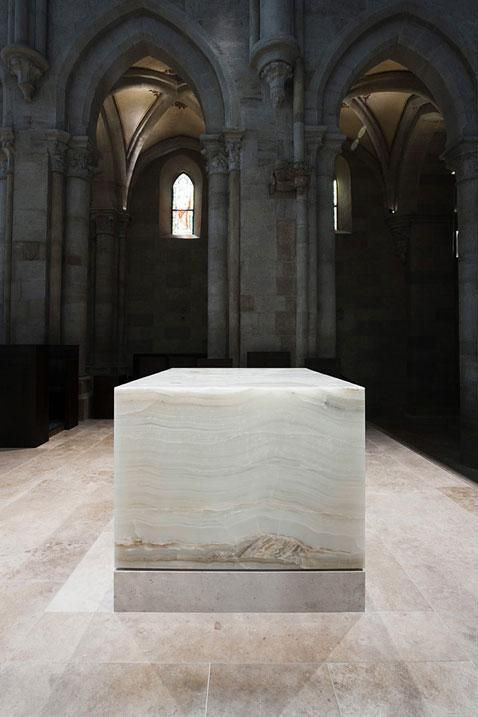 Archhabbey of Pannonhalma, Hungary by John Pawson :: Benedictine basilica renovation, new altar