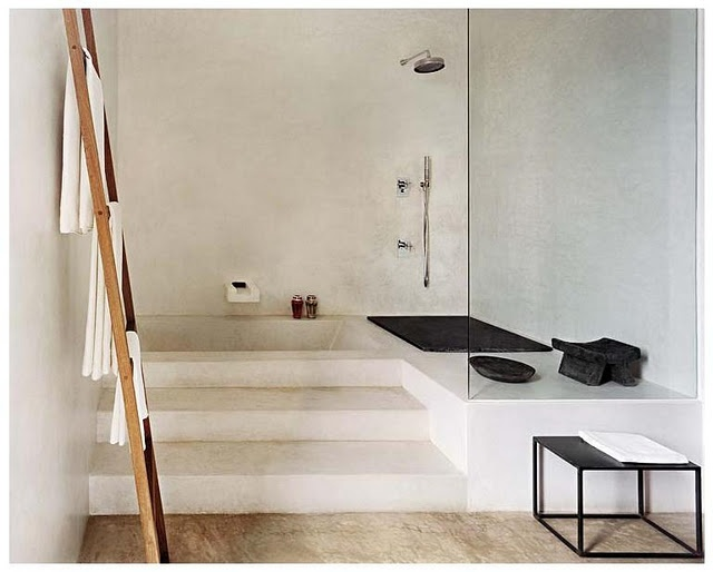 Baño Bajo Escalera Arquitectura:Bathroom with Sunken Tub and Shower