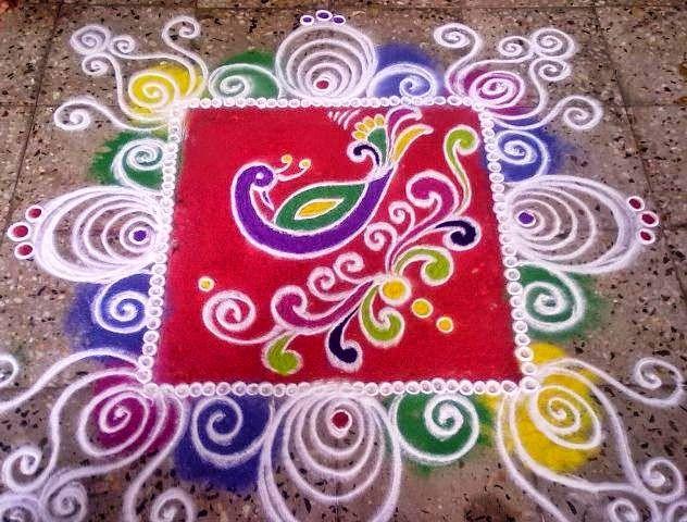 Easy Rangoli Designs 7