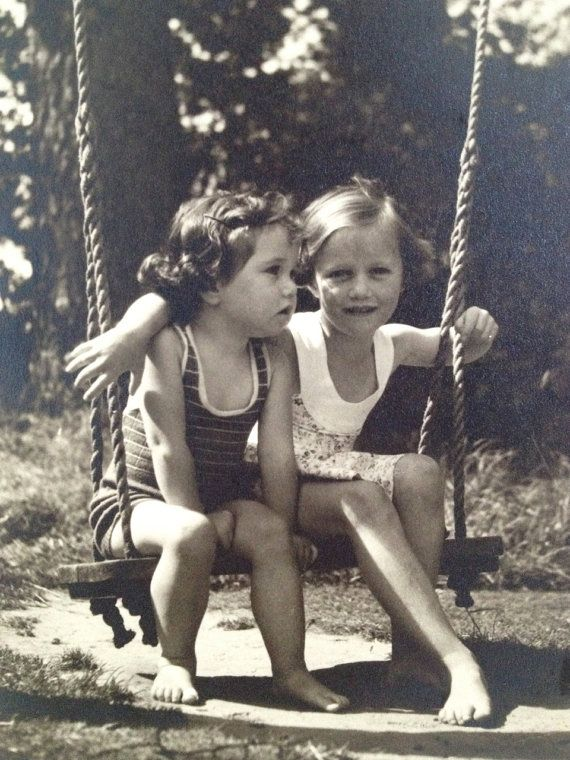 Kodak Film Photo of Two Girls on a Swing Negative on by detteryan