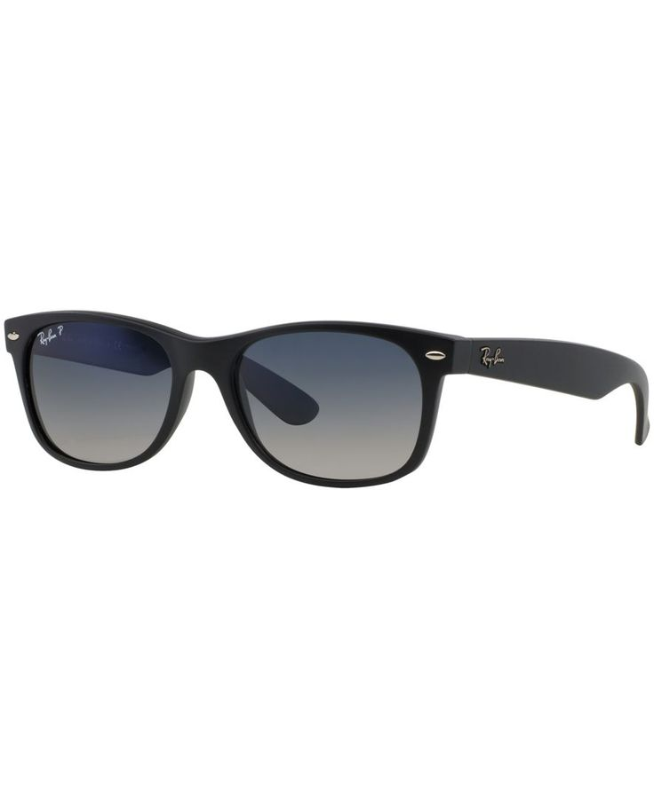Ray-Ban Sunglasses, RB2132 52 New Wayfarer in size 58 (or whatever the widest temple is) in Black and in Tortoise