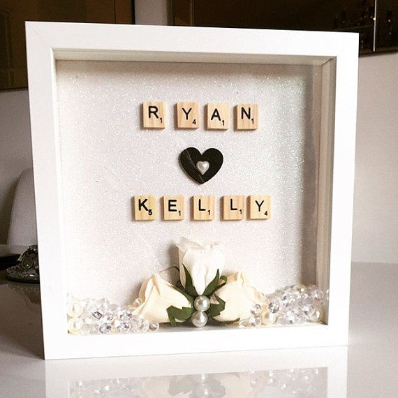 Personalised box frame by Huxleyshomemade on Etsy