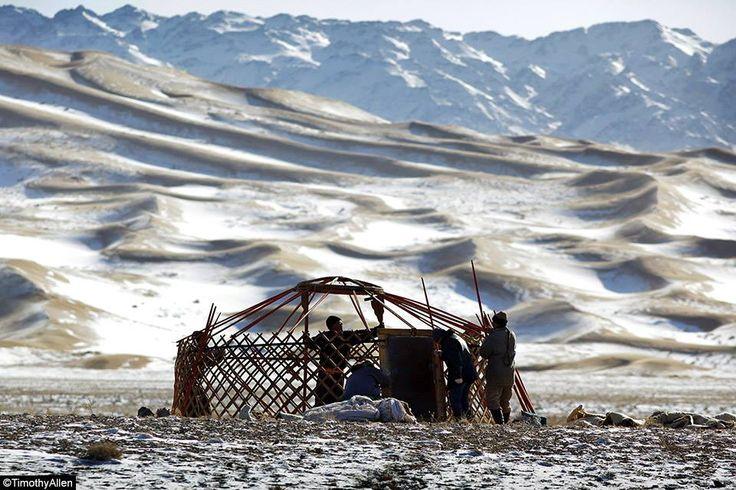 Winter life in the Gobi Desert. -- Timothy Allen #travel #photography #Mongolia — in Mongolia.