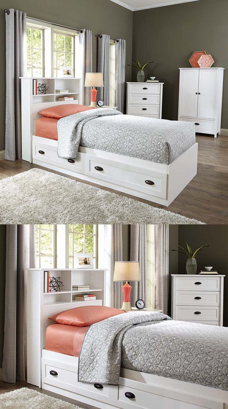 Better Homes and Gardens Lafayette Twin Mates Bed  White. 119 best images about Fine  Affordable Furniture on Pinterest