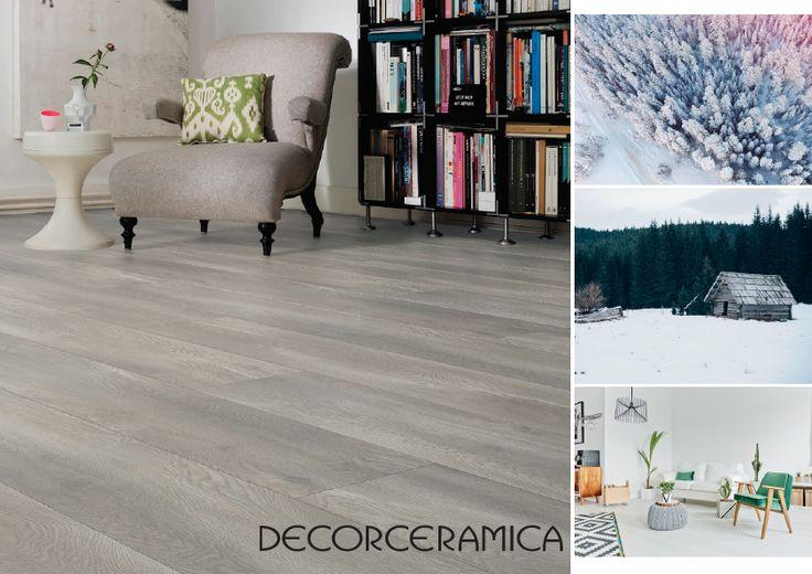 Para obtener el maravilloso color grisáceo en la madera se requiere un largo proceso, con este suelo lo simplificamos… Mira cómo!    😍 😎 👌 #Decorceramica #PisoLaminado #Exclusivo #8mm #Tendencia2017