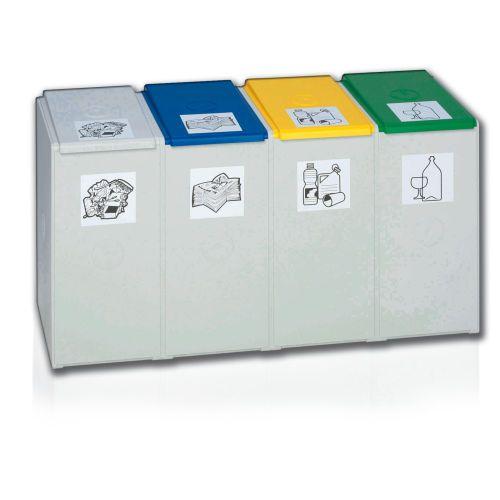 Polypropylene waste bin / industrial waste / for recycling / fire-resistant DENIOS