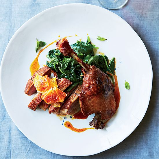 This best-ever duck à l'orange gets flavor from dark honey, cider vinegar and orange blossom water. Get the recipe from Food & Wine.
