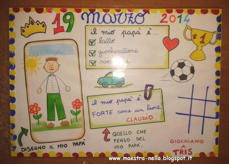 maestra Nella: festa del papà - tovaglietta plastificata