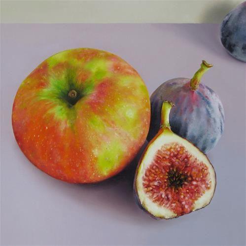 "Daily+Paintworks+-+""Honeycrisp+and+Figs""+-+Original+Fine+Art+for+Sale+-+©+Oriana+Kacicek"