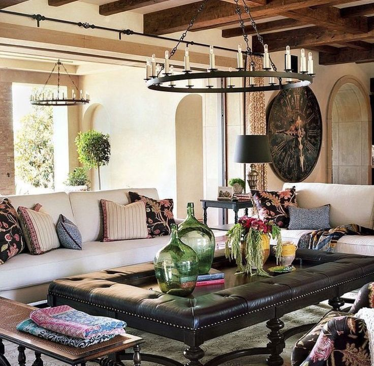 Spanish LivingRoom InteriorDesign OrangeCounty