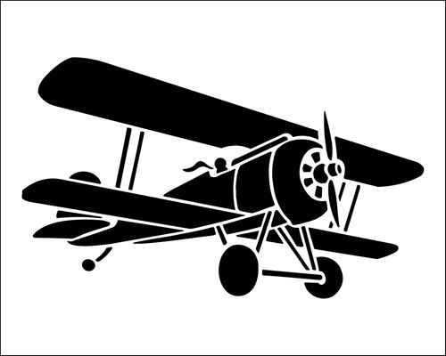 Bi Plane Stencil From The Library BUDGET STENCILS Range Buy Stencils Online