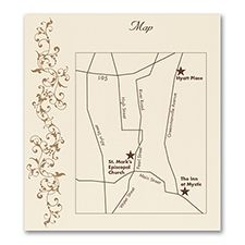 French Floret - Direction/Map Card