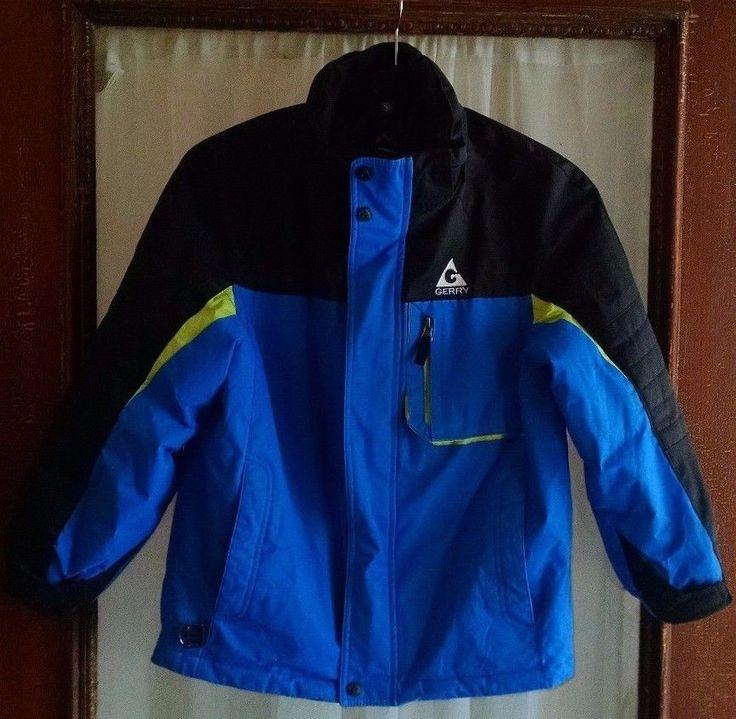 Gerry Boys Winter Coat S 7-8 Blue Black Sky Diver No Hood #Gerry #BasicCoat