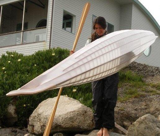 Custom, Aleut-inspired, skin-on-frame sea kayaks: for commission.. $3,150.00, via Etsy.