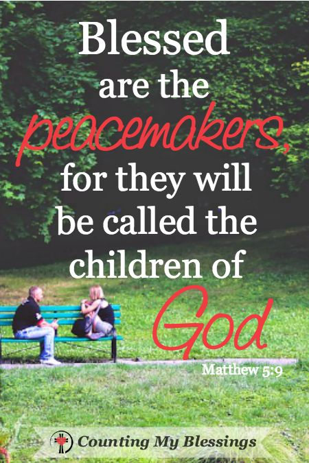 Are you a peacekeeper or a peacemaker? Peacekeepers keep peace out of fear through avoidance. Peacemakers make peace out of strength through reconciliation.