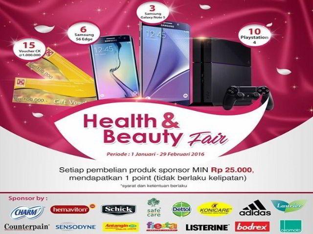 promo berhadiah samsung s6 edge oleh circle k indonesia health & beauty fair