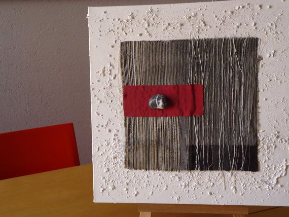 Pittura astratta contemporanea- QuadriMatericidiRita- Titolo: Pioggia- cm 40x40x4