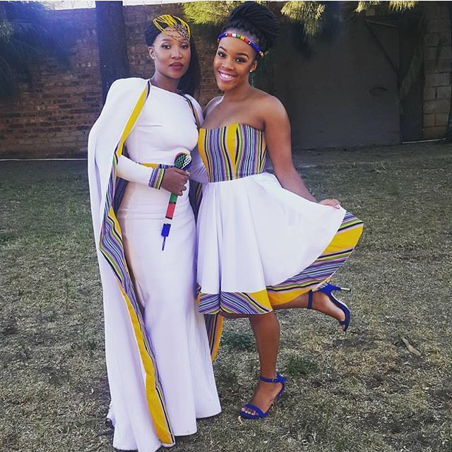 #Venda inspired wedding & bridesmaid dresses ! : @tshepimagongwa ✨✨#TshepoWedsRachel #NigerianWedding #NWbms