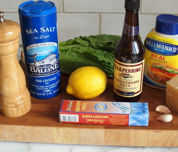 Homemade Caesar Dressing-- really tasty, and really easy! The only ingredient I don't normally have around is the anchovy paste. But now I do!