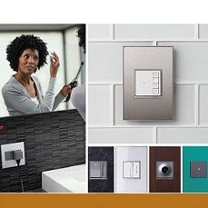 The adorne collection: switches, dimmers, lighting controls & outlets | The adorne collection: switches, dimmers, lighting controls & outlets is a new line of residential light switches, dimmers, electrical outlets and wall plates | Design team: Ted Junko, Taesuk Yang, Denys Toulemonde, Phillip Prestigomo of Legrand North America and The Team at Essential Design | IDEA 2013 Bronze