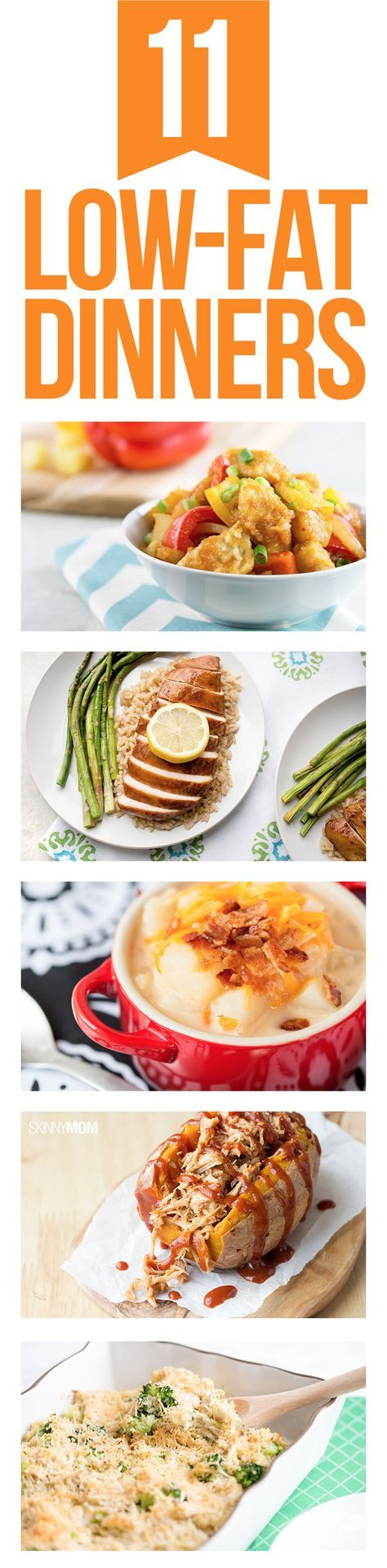 Serve these low-fat suppers for a healthy meal!