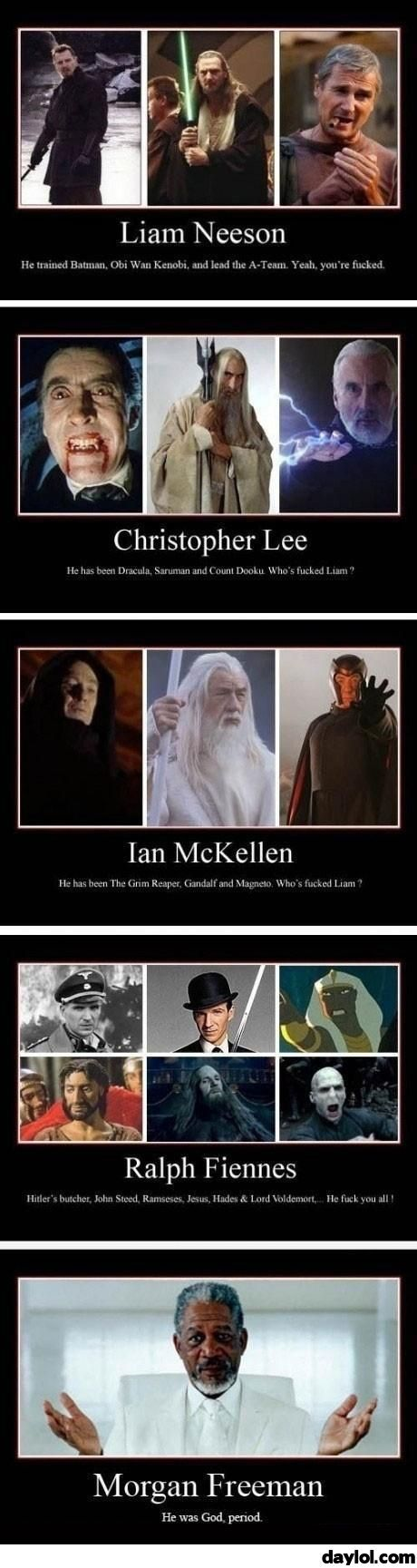 There can be only one badass in Hollywood - DayLoL.com - Your Daily LoL!