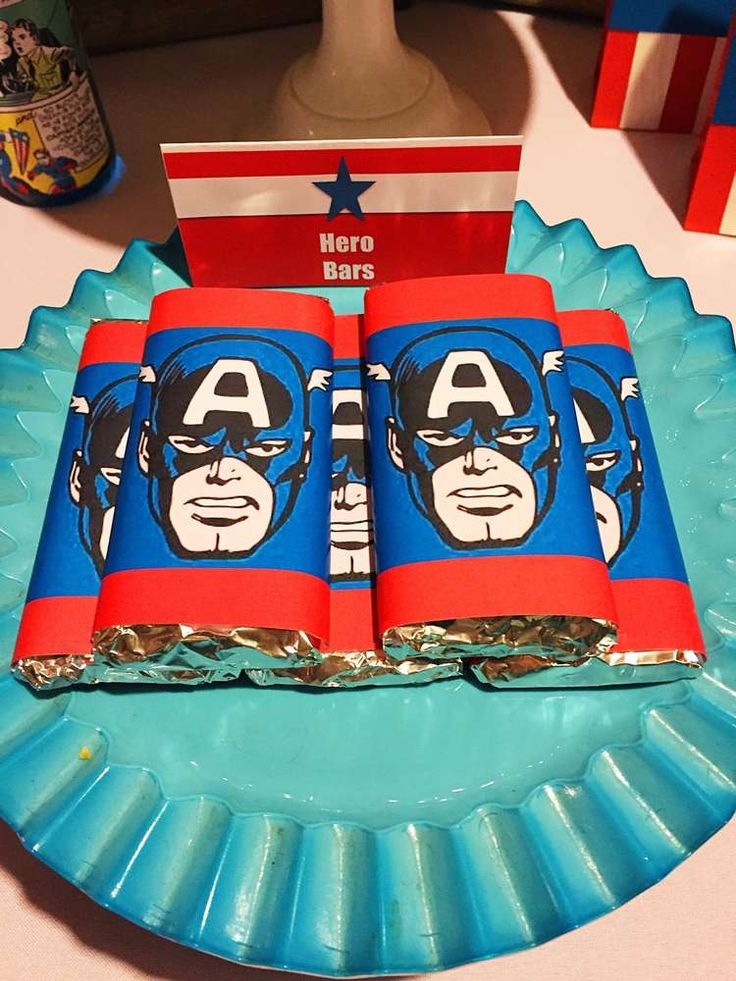 Captain America Birthday Party Ideas | Photo 1 of 19 | Catch My Party