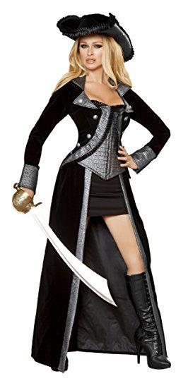 Women's Deluxe Sexy Pirate Princess 4-Piece Costume  - DeluxeAdultCostumes.com