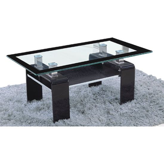 Tim Clear Glass Coffee Table With High Gloss White Base: 17 Best Images About Glass Coffee Tables On Pinterest
