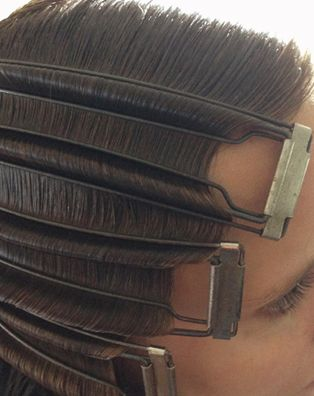Vintage wave clamp, the only way that makes sense to me to achieve finger waves Via Womenstime.net
