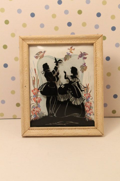 Silhouette Picture Convex Glass Reverse by ClockworkRummage, $15.00