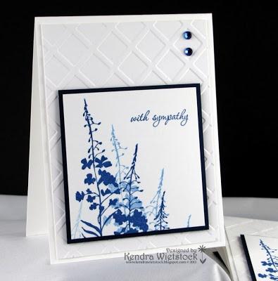 By: Kendra Wietstock; Crafter's Companion ~ Wildflower Silhouette & Lattice Embossing Folder