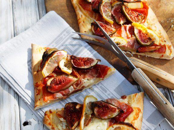 Schinken-Feigen-Pizza |