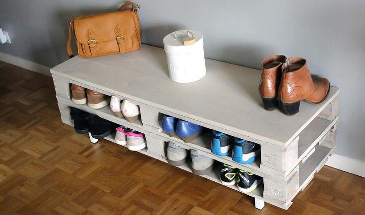 Diy fabriquez un range chaussures tr s pratique en for Rangement chaussures diy