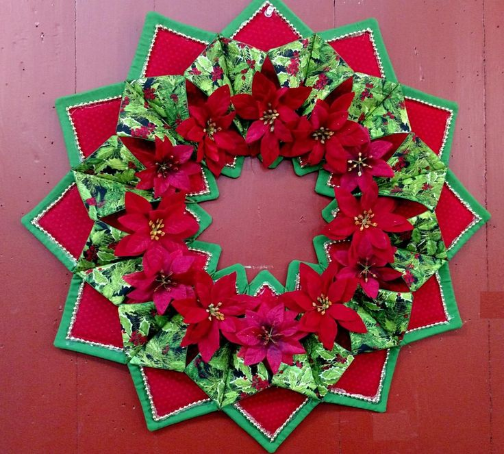 40 Best оригами из ткани Images On Pinterest Cathedrals Cool Fold And Stitch Wreath Pattern