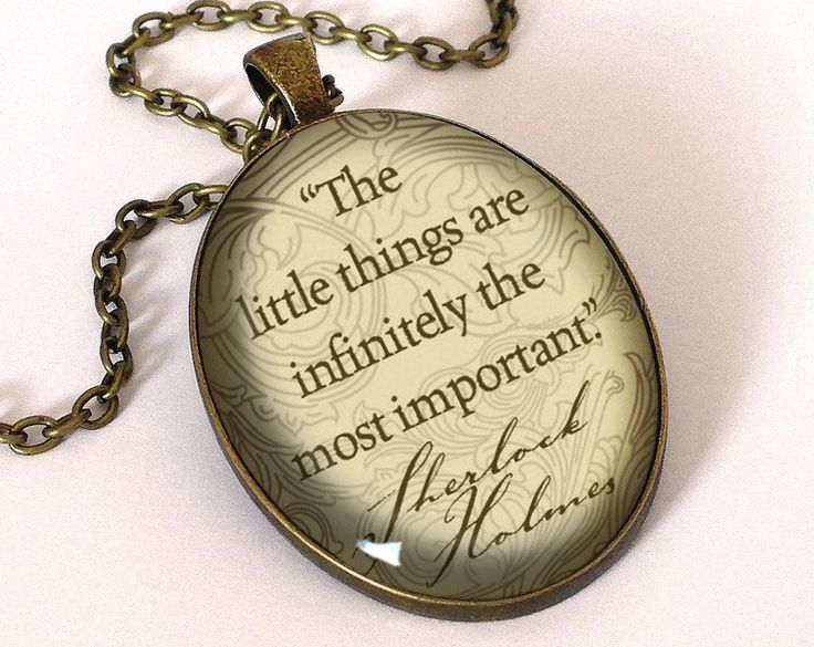 Quote Sherlock Holmes, Pendant, 0671OPB from EgginEgg by DaWanda.com