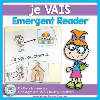 French Emergent Reader: je VAIS. Pour les lecteurs débutants.