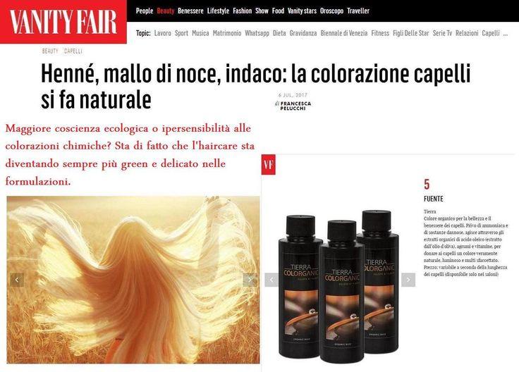 Vanity Fair Italia dedica uno speciale al boom delle colorazioni naturali per capelli. E come vedete, ne spicca una: Tierra by Fuente, il vero Colore Organico per il benessere dei capelli!