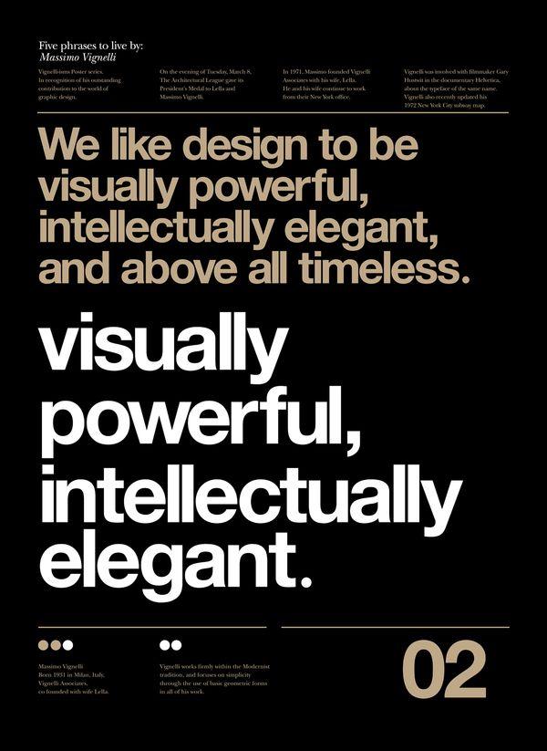 Massimo Vignelli: Anthony Neil, Massimo Vignelli, Typography Poster, Posters Design, Neil Darts, Visual Power, Graphics Design, Massimovignelli, Vignelli Forever