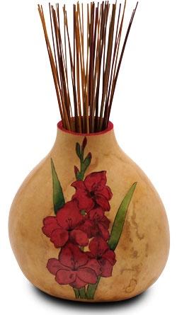 Flower Gourd Vase by Christy Barajas