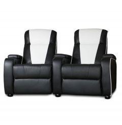 Metro Movie Chair Double Black/White